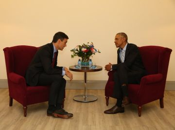 Sánchez y Obama en Madrid