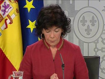 La portavoz del Gobierno, Isabel Celáa