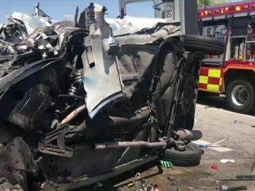 Dos heridos al chocar una furgoneta y un turismo en Ajalvir