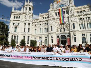 Cabecera de la manifestación del Orgullo Gay 2018