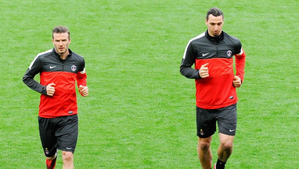 Beckham e Ibrahimovic, en el PSG