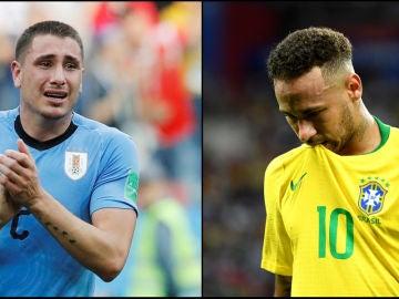 Giménez y Neymar se lamentan