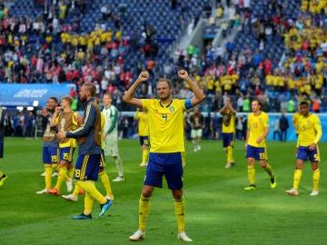 Suecia celebra una victoria