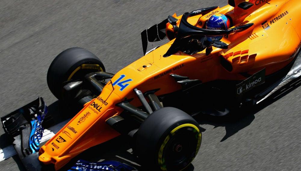 Fernando Alonso, con el McLaren