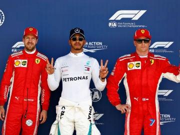 Hamilton, pole en Silverstone