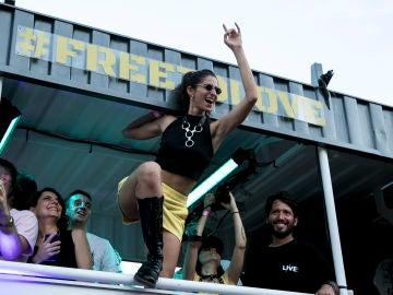 Alba Flores en el Orgullo de Madrid