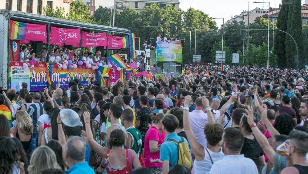 Asistentes a la manifestación del Orgullo Gay