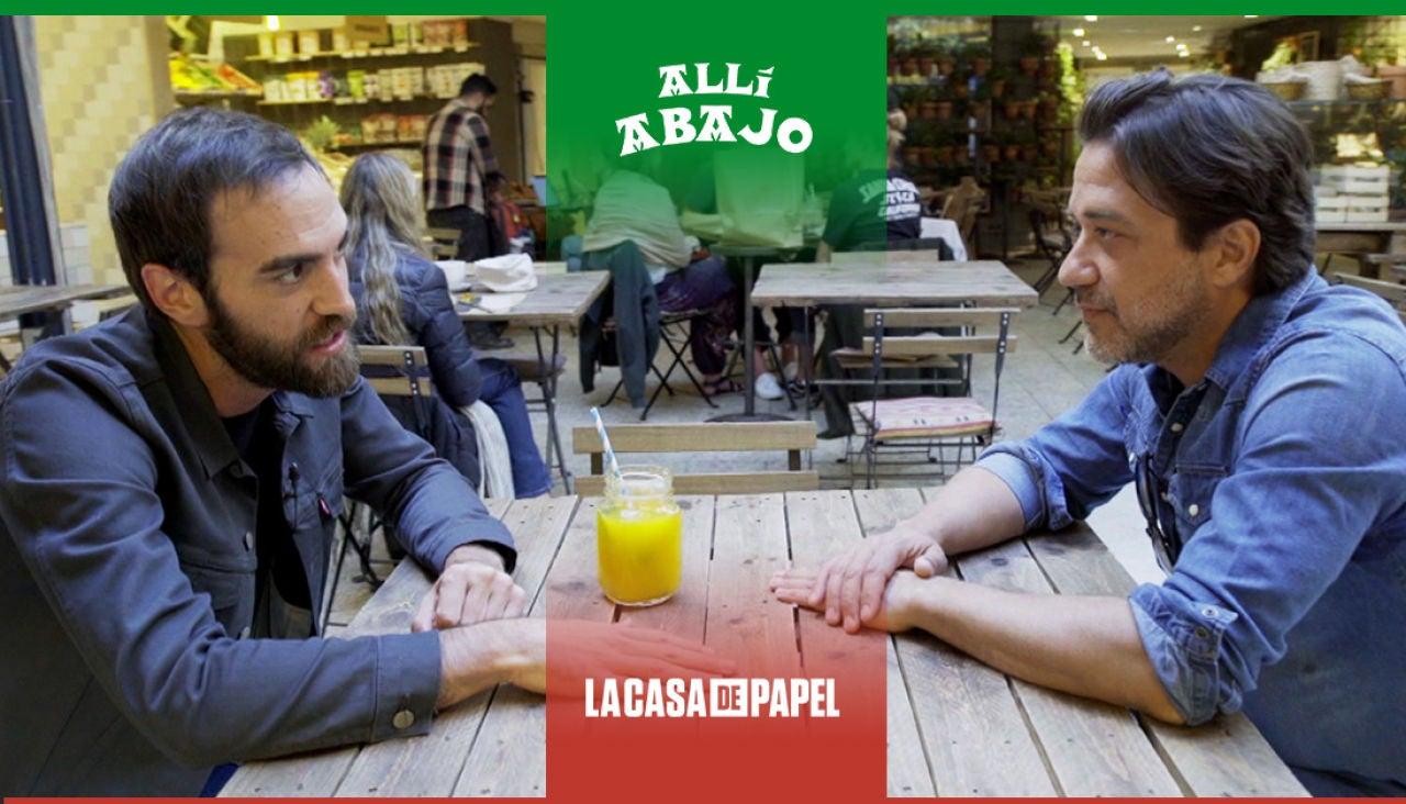 Jon Plazaola y Enrique Arce protagonizan un magistral crossover de 'Allí abajo' y 'La casa de papel'