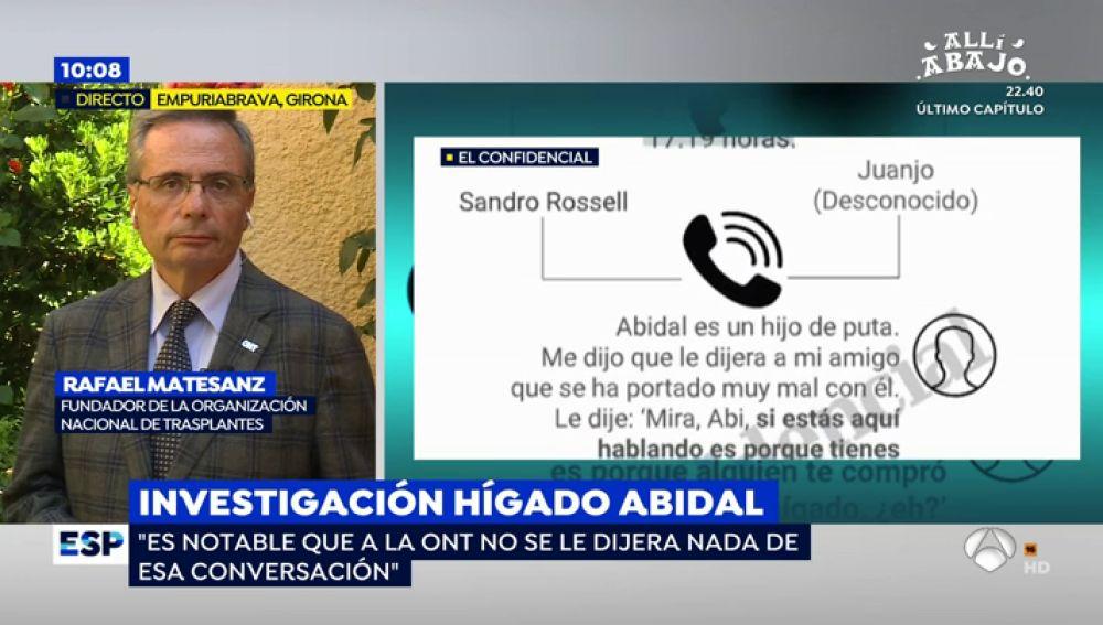 """Rafael Matesanz, sobre el hígado de Abidal: """"El trasplante pasó por los filtros del coordinador de trasplantes y comité ético"""""""