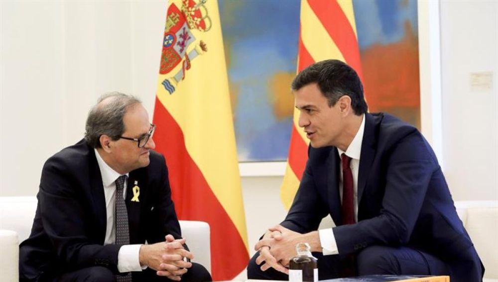 Antena 3 Noticias 1 (09-07-18) Sánchez y Torra acuerdan reestablecer la comisión bilateral entre el Estado y la Generalitat siete años después