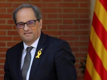 Quim Torra antes de su reunión con Pedro Sánchez