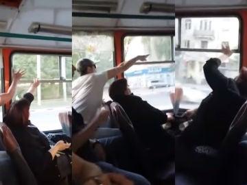 Enfrentamiento en un autobús en Rusia