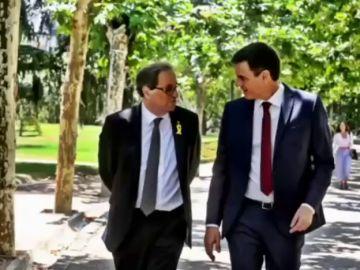Sánchez y Torra acuerdan reestablecer la comisión bilateral entre el Estado y la Generalitat siete años después