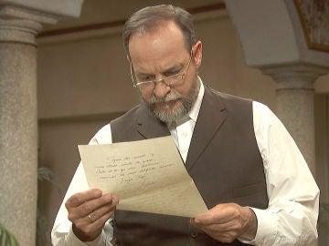 Raimundo descubre el contenido de la carta de Francisca