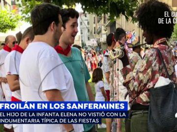 Froilán, un joven con ganas de fiesta en los Sanfermines que se salta el 'dress code'