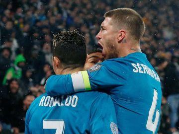 Ramos, junto a Cristiano Ronaldo