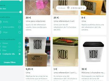 Urnas a la venta en Internet