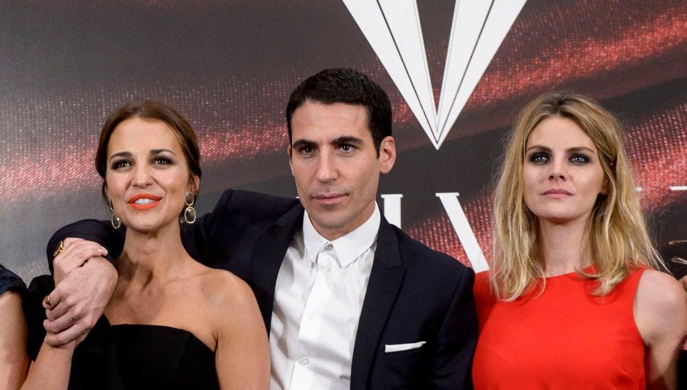 Miguel Ángel Silvestre, Paula Echevarría y Amaia Salamanca