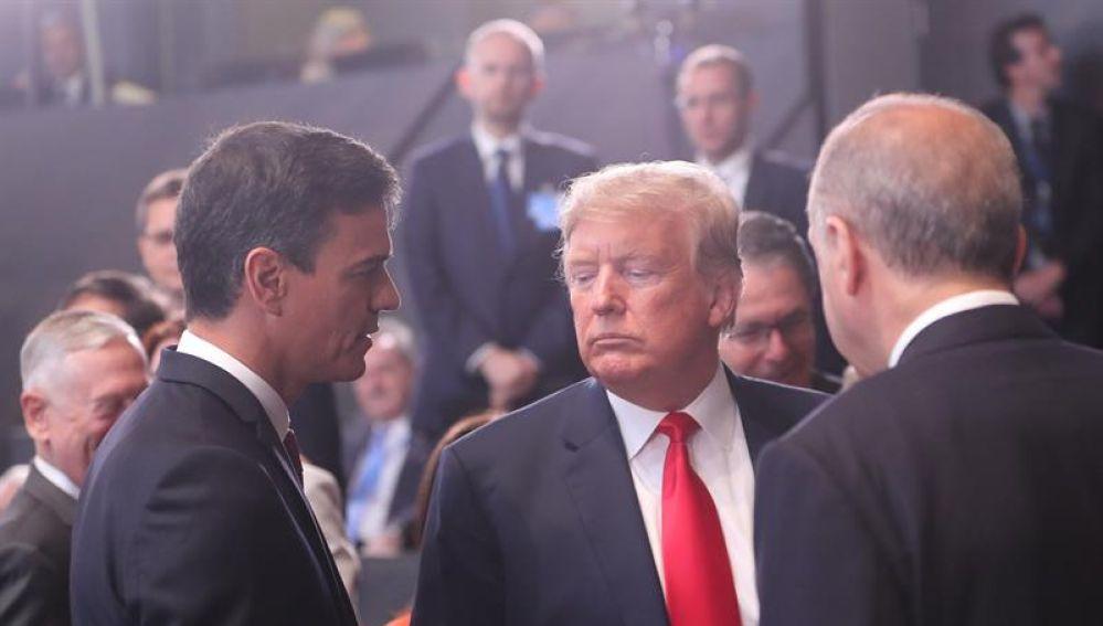 Encuentro entre Sánchez y Trump
