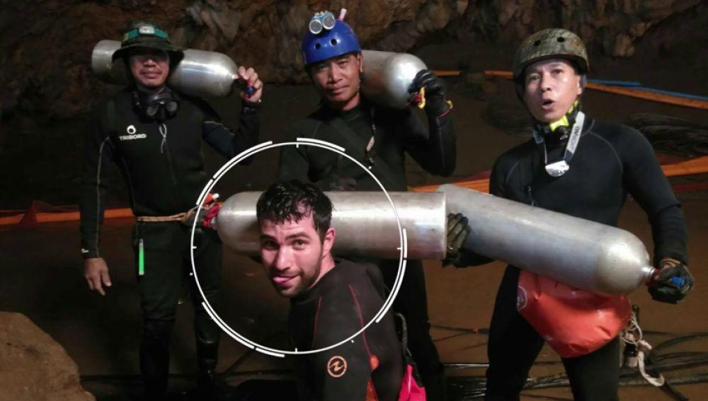 El buceador español cuenta cómo participó en el rescate de Tailandia