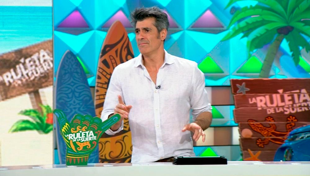 Jorge Fernández bailando 'Ruleta de la Suerte'