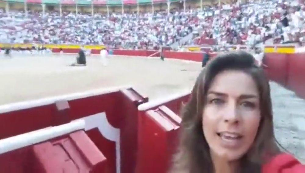 Así se ha vivido el quinto encierro de San Fermín 2018 desde dentro de la plaza de toros