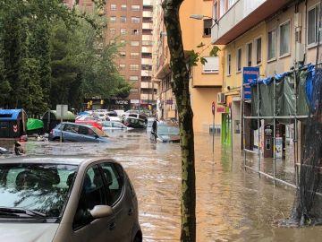 Tromba de agua en Zaragoza