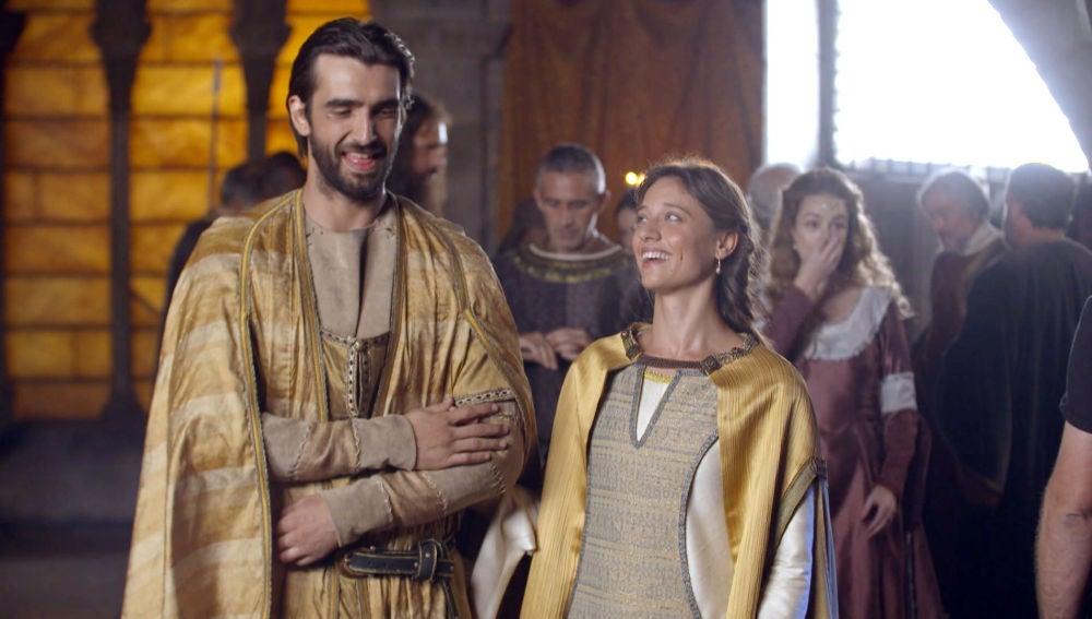 Michelle Jenner y Aitor Luna, pura química en el rodaje de 'La Catedral del Mar'