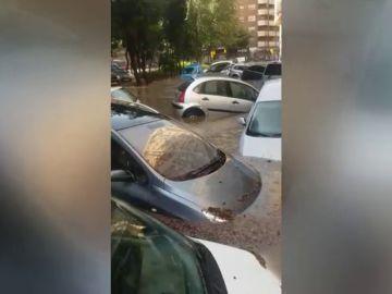 Zaragoza destrozada en diez minutos por una tormenta torrencial