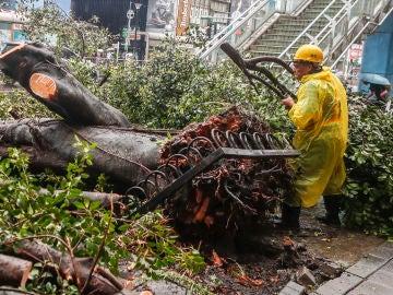 Consecuencias del tifón 'María' en China