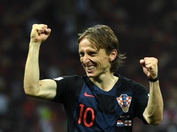 Luka Modric celebra el pase a la final