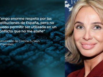 Corinna difunde un comunicado tras la polémica de que el Rey Juan Carlos la usó como testaferro