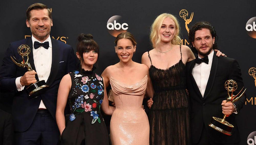 Los protagonistas de 'Juego de Tronos' en los Emmy
