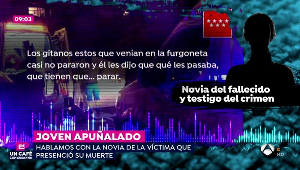 """La novia del joven asesinado en San Sebastián de los Reyes: """"Los gitanos que venían en la furgoneta casi no pararon y él les dijo que qué les pasaba"""""""