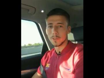 Lenglet, a su llegada a Barcelona