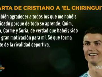 La emotiva carta de Cristiano Ronaldo a 'El Chiringuito'