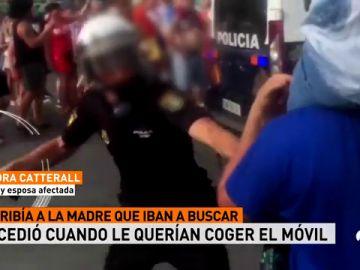 Agresion policia aficionado