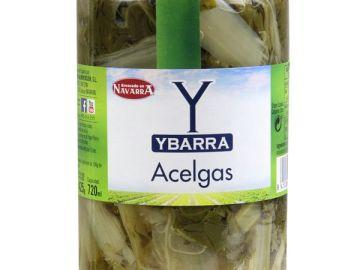 Acelgas en conserva de la marca Ybarra