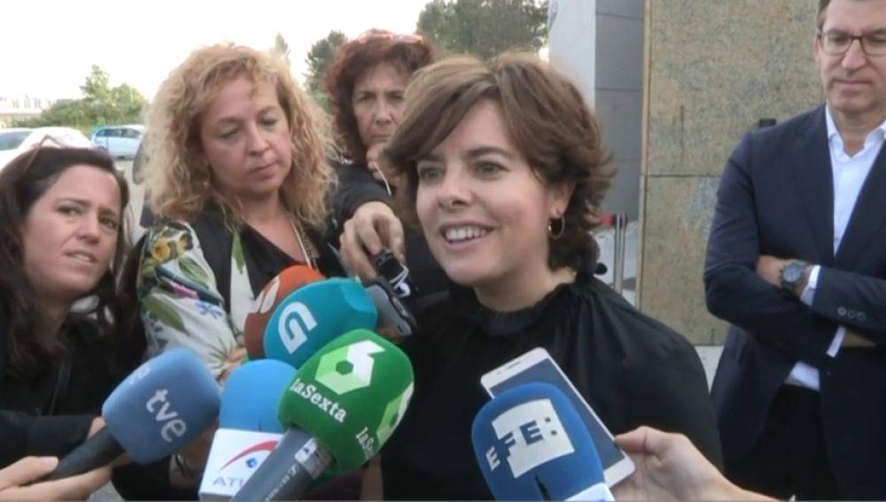 Casado y Sáenz de Santamaría dejan de lado la campaña para rendir homenaje a Fernández Albor