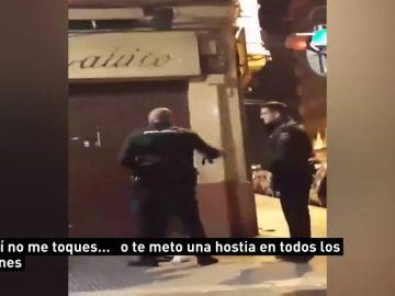 Suspendido cuatro días de empleo y sueldo el agente que abofeteó brutalmente a una mujer en Valencia