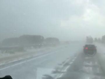 Continúan las fuertes tormentas y el granizo en el norte peninsular