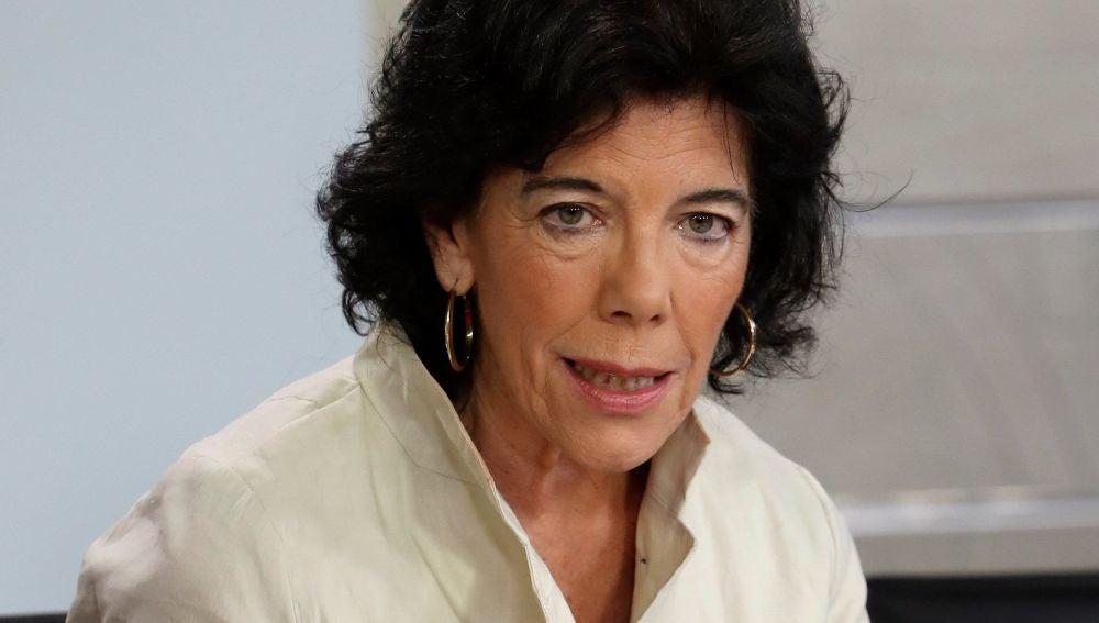 La portavoz del Gobierno y ministra de Educación y Formación Profesional, Isabel Celaá