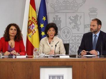 María Jesús Montero, Isabel Celaá y José Luis Ábalos