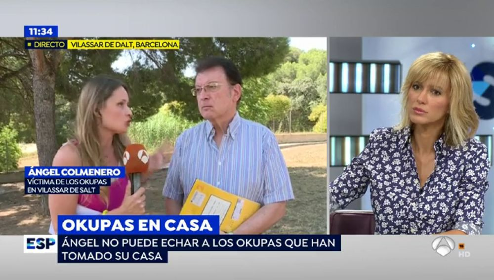 """'Espejo Público habla con la víctima de los okupas: """"La fuerza pública me dice que sin permiso del okupa no pueden acceder a la propiedad"""""""