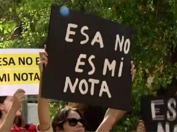 Protesta por los exámenes