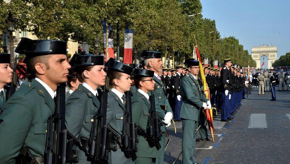 La Guardia Civil, en el desfile del 14 de julio