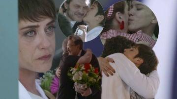 Las lágrimas de emoción de los protagonistas de 'Allí abajo' en el rodaje del final de la cuarta temporada