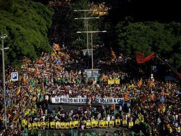 Manifestación en Barcelona por la liberación de los políticos presos
