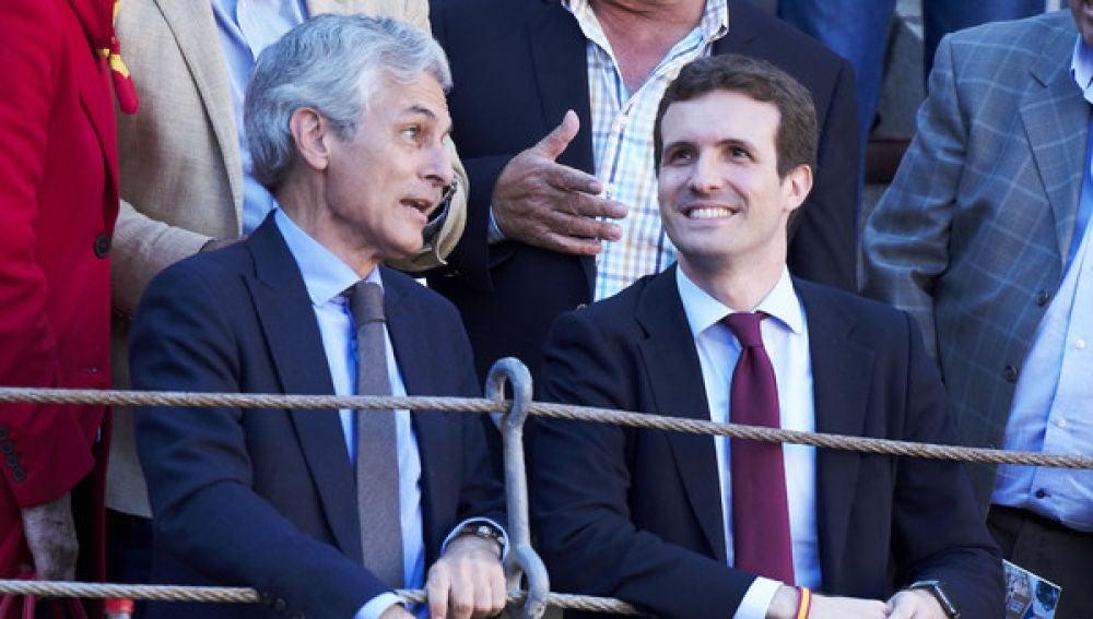 Pablo Casado con Adolfo Suárez Illana