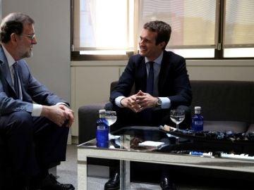 Antena 3 Noticias 1 (23-07-18) Pablo Casado y Mariano Rajoy se reúnen en Génova tras el Congreso Extraordinario del PP